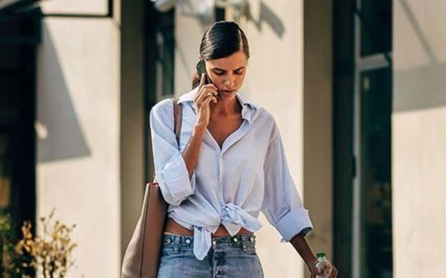 camicia oversize jeans
