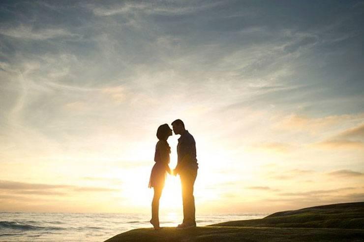 coppia tramonto