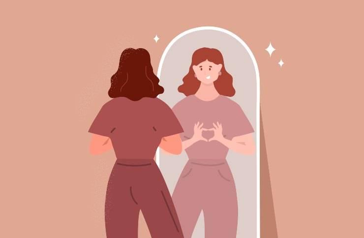 donna si ama specchio