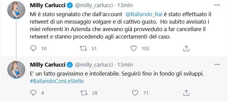 tweet milly carlucci