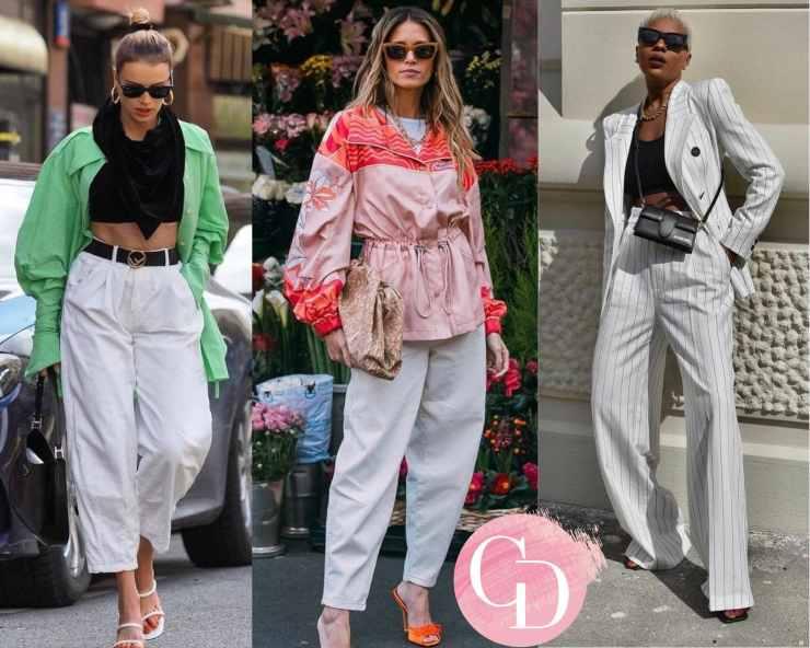 street look pantalone bianco