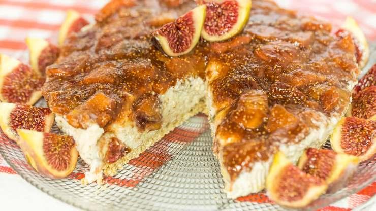cheesecake proteica ai fichi