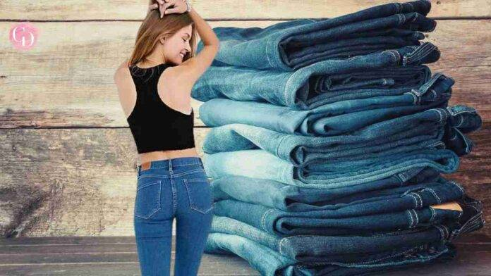 jeans sedere piatto