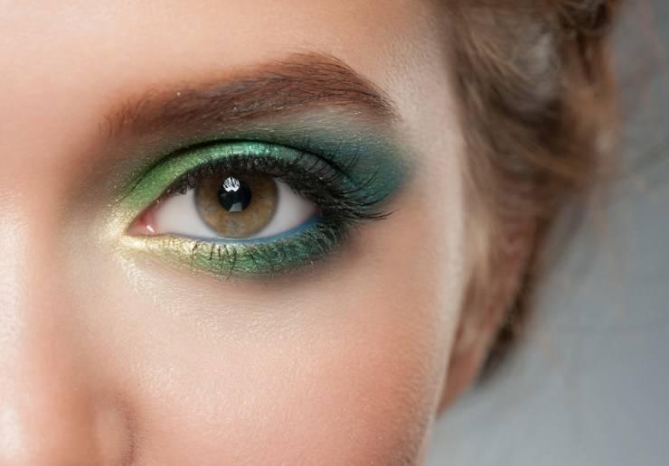 trucco occhi verde
