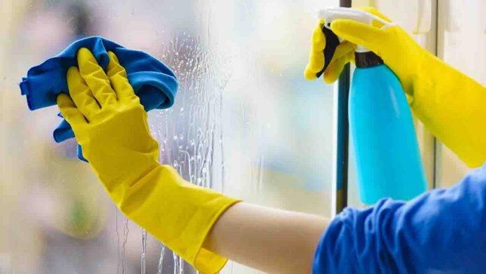 pulizia dei vetri