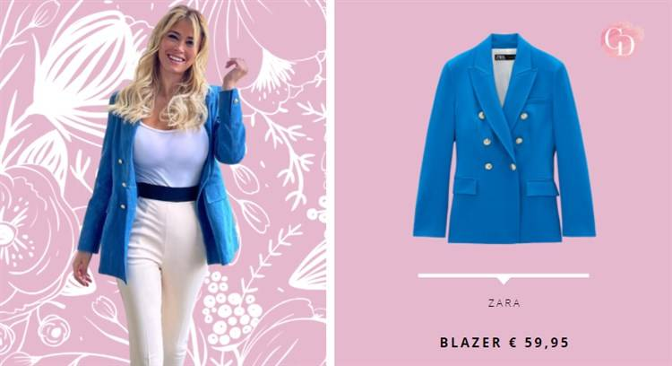 blazer azzurro diletta leotta