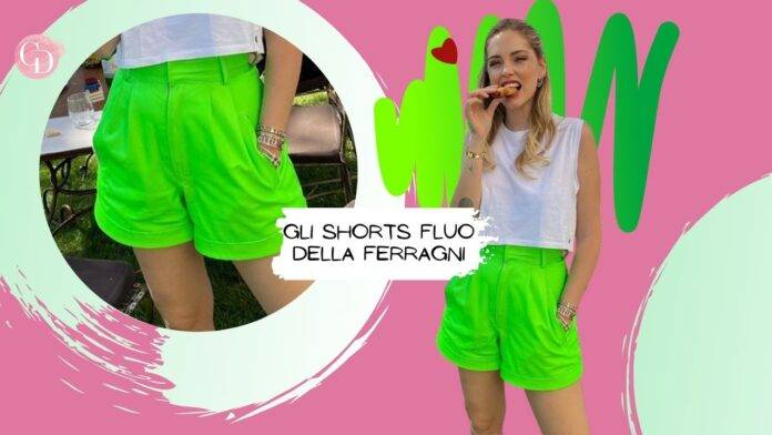 shorts fluo chiara ferragni