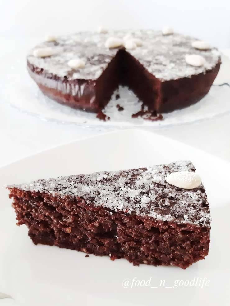 torta caprese cioccolato fondente