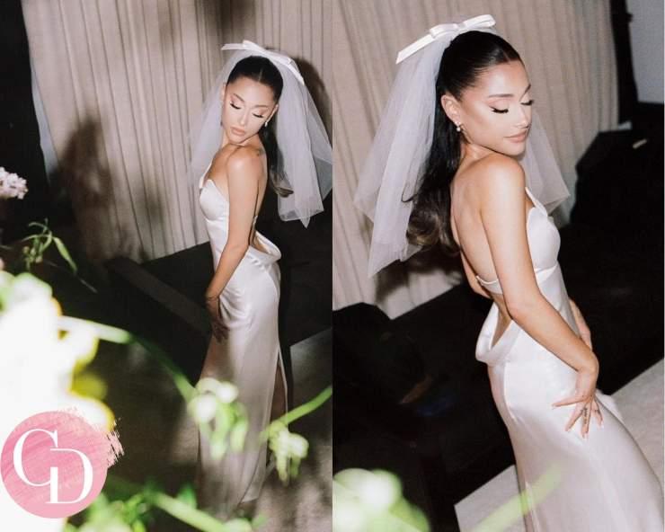 Ariana Grande in abito da sposa