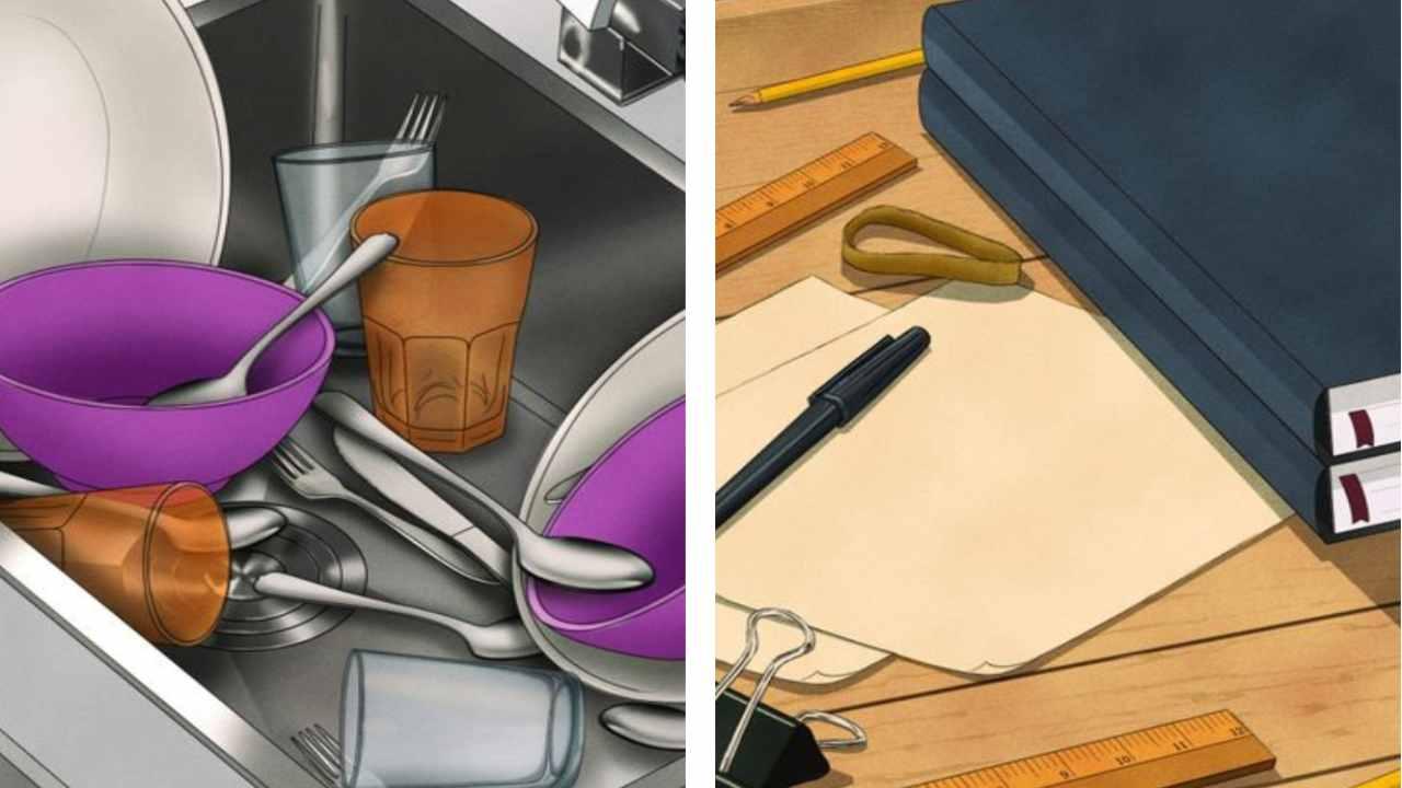 In questa immagine tutti gli oggetti si ripetono almeno una volta, tranne uno: saprai individuarlo?
