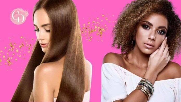 donne con capelli ricci e lisci