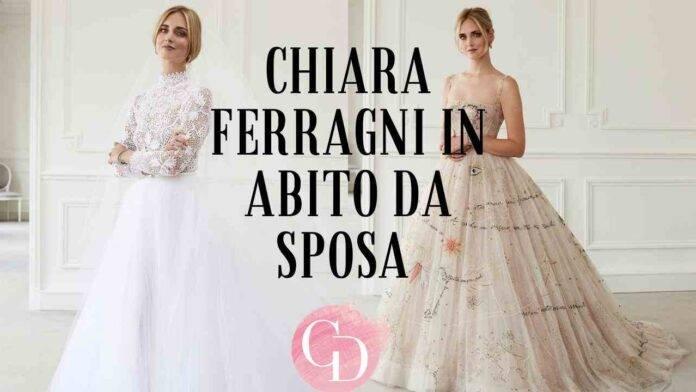 Chiara Ferragni in abito da sposa