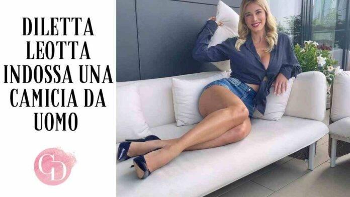 Diletta Leotta in camicia di lino