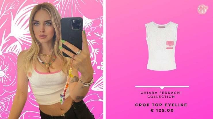 crop top Chiara Ferragni