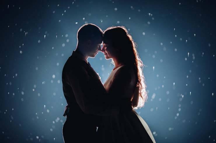 coppia notte stellata