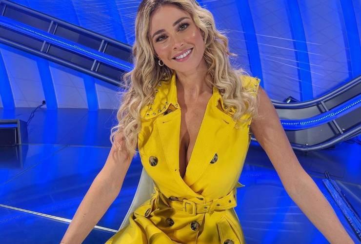 abito giallo diletta leotta