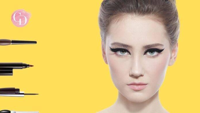 donna con eyeliner