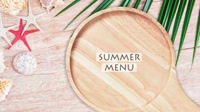 menù settimanale estivo