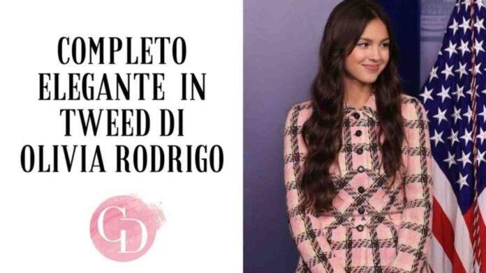 Completo elegante in tweed di Olivia Rofrigo