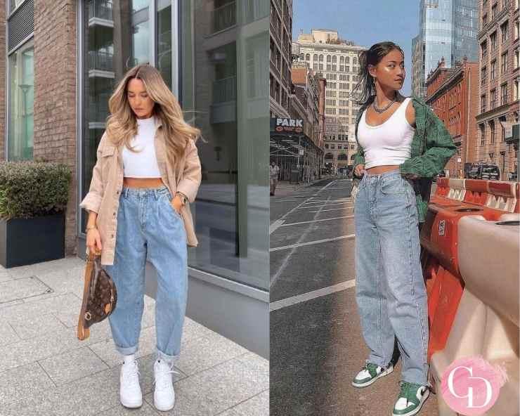 Outfit da viaggio con jeans