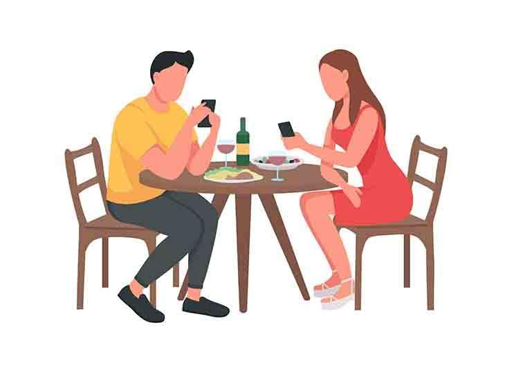 coppia pranzo fuori