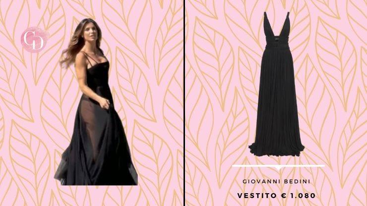 vestito nero trasparente elisabetta canalis