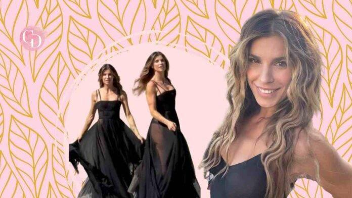 vestito trasparente di Elisabetta Canalis