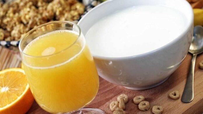 latte arancia