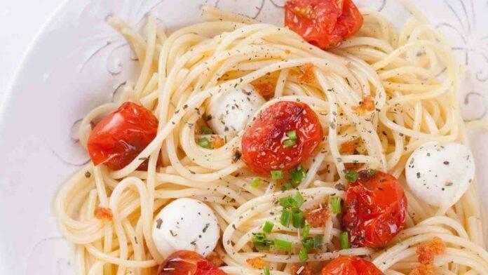 pasta pomodorini mozzarella