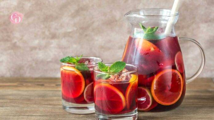 Sangria analcolica succo d'uva