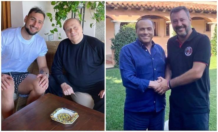 Berlusconi Donnarumma Salvini