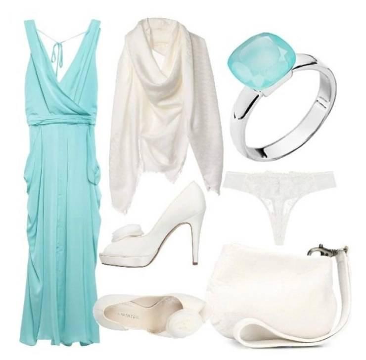 Gli outfit che si possono creare con i colori acquamarina e bianco