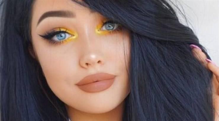trucco occhi giallo 2021