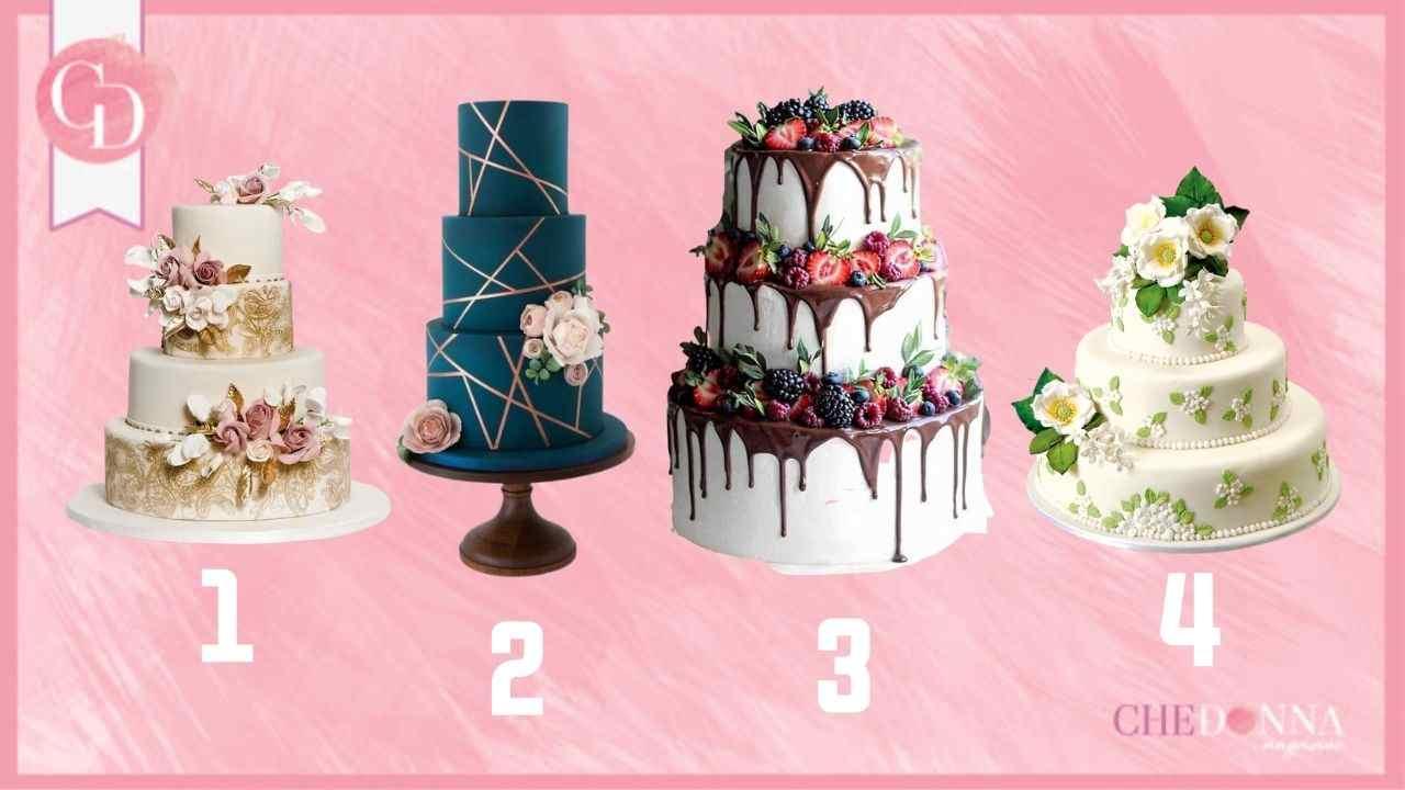test delle torte di matrimonio