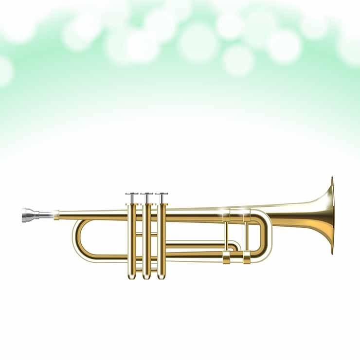 Vector Golden Trumpet