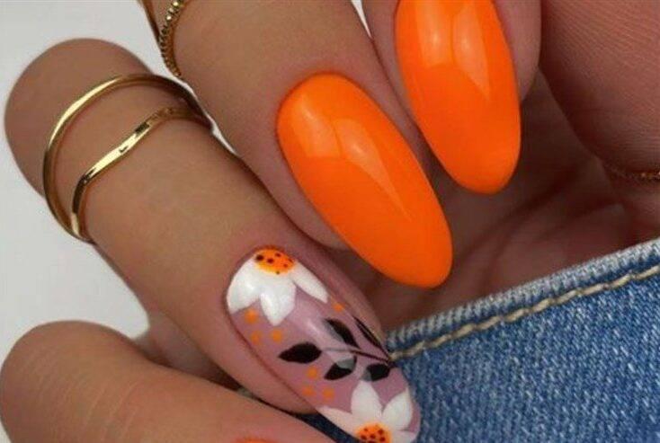 unghie arancioni chiara ferragni
