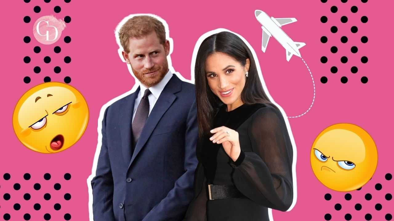 Harry e Meghan aereo