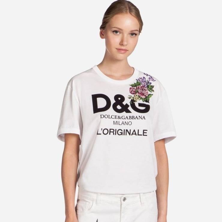 Maglia t-shirt con logo D&G
