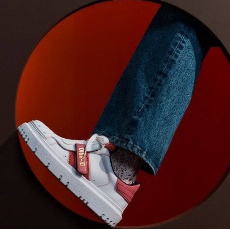 Sneakers Dior bianche e rosse