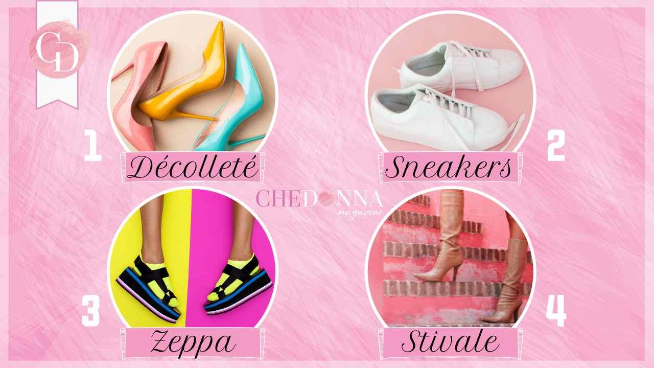 test delle scarpe