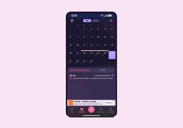app per il monitoraggio del ciclo