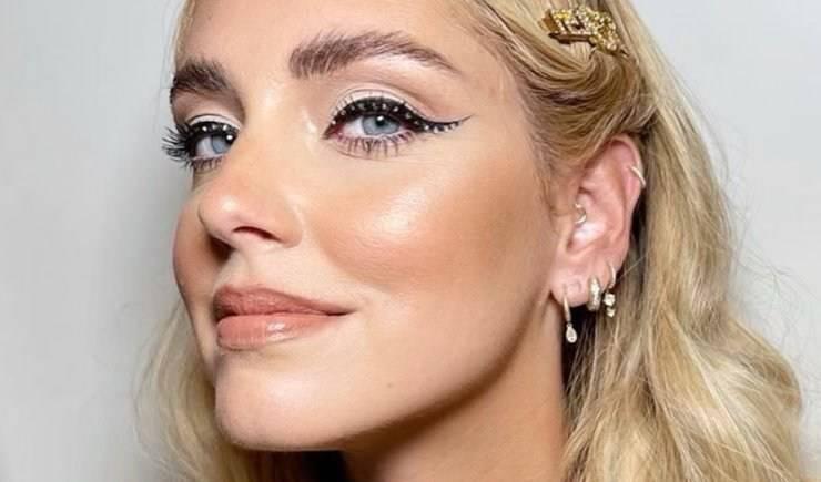 eyeliner punti luce chiara ferragni