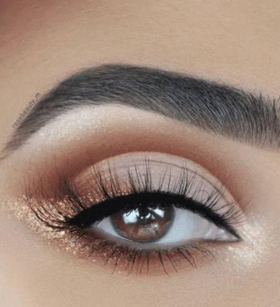 glitter oro occhio