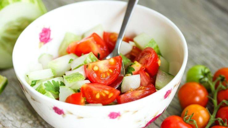 insalata pomodori cetrioli