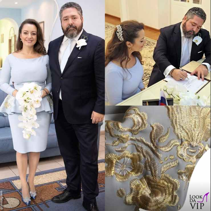 Rebecca Bettarini (in Chiara Boni) con il marito