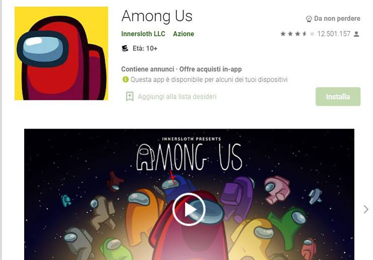 among up gioco play store