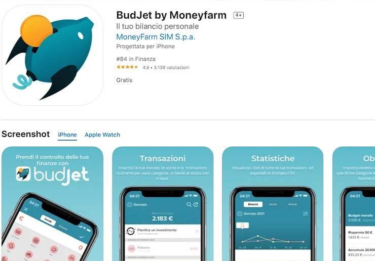 budjet app per le finanze