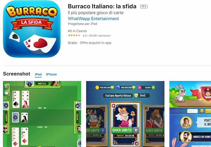 burraco la sfida gioco di carte app