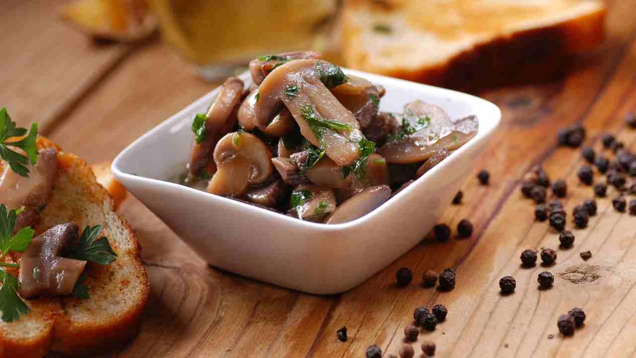 funghi a dieta