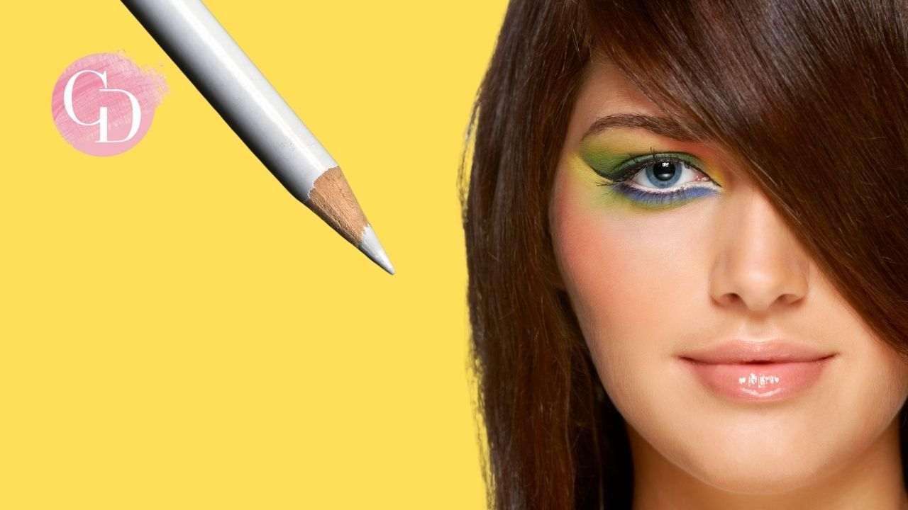 makeup con matita bianca occhi
